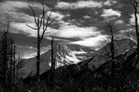 Alaskan Mountain Top in Black & White